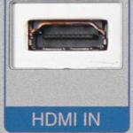 HDMI female socket input