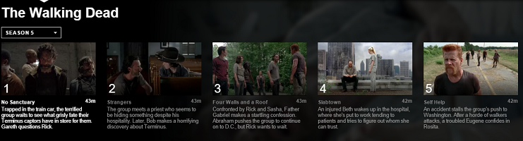The Walking Dead Season 5 comes to Netflix USA