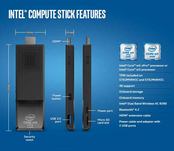 Intel Compute Stick 2nd Generation Core M